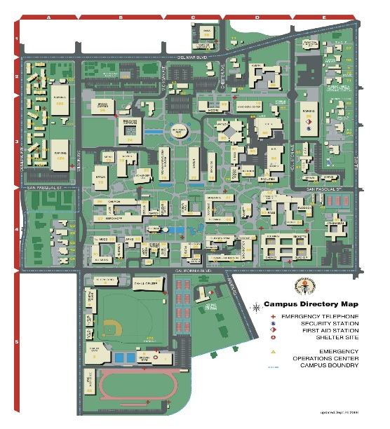Caltech Campus Map Campus Map